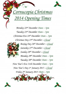 Christmas 2014 Opening Times 212x300 Christmas Opening Times plus Late Night Opening at Cornucopia!