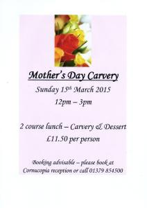 Mothers Day jpeg 212x300 Mothers Day Carvery!