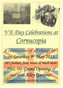 %name V E Day Celebrations at Cornucopia!