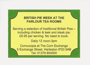 Pie week 300x216 British Pie Week at the Parlour Tea Rooms begins tomorrow!