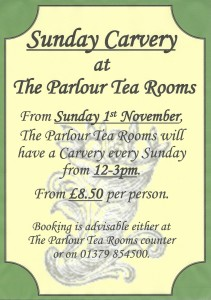 Scan0003 2 211x300 Carvery in The Parlour Team Rooms from November 2015!
