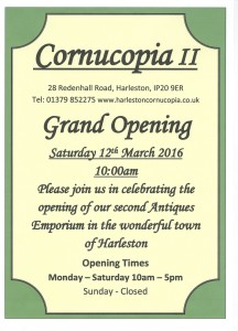 CCII Grand Opening 216x300 Just over 2 weeks until the Grand Opening of Cornucopia II !