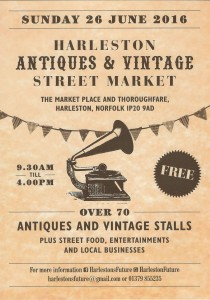 Antique fair 2016 1 210x300 Only 4 days to go until this years Harleston Antiques & Vintage Street Market !