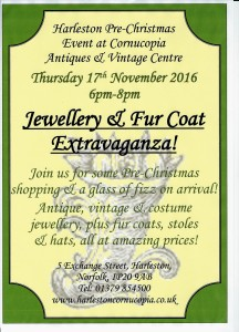 jewellery evening 216x300 Jewellery & Fur Coat Extravaganza at Cornucopia !