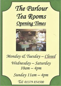 Scan0001 212x300 New Opening Times for The Parlour Tea Rooms!