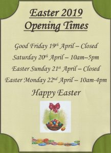 Easter Opening 2019 217x300 Cornucopia Easter Opening Times 2019